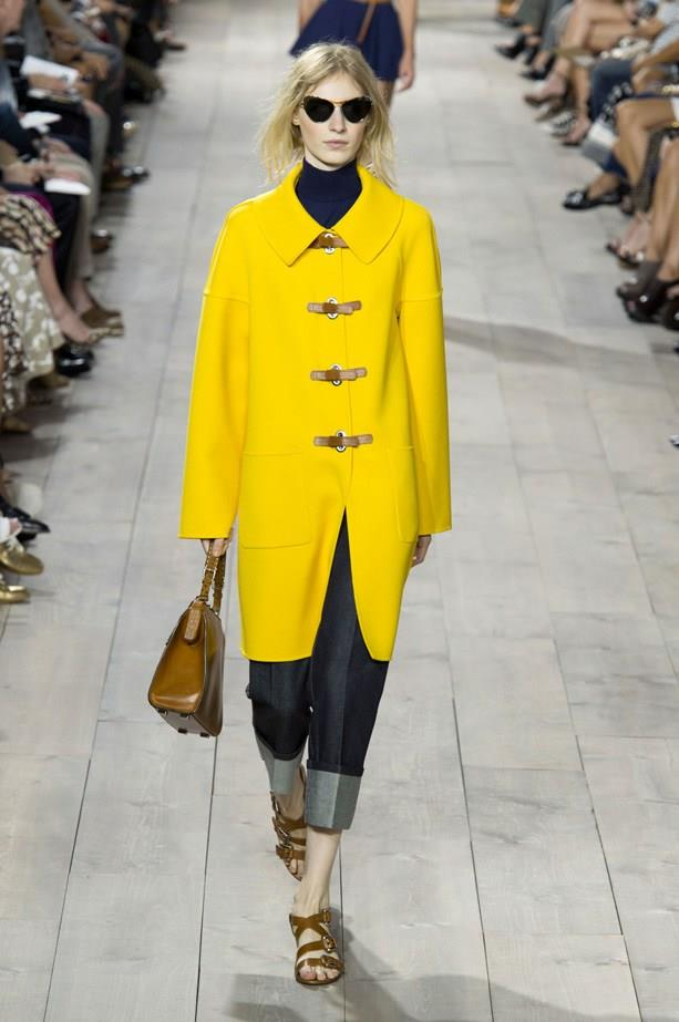 Julia Nobis in Michael Kors SS15 runway show at New York Fashion Week