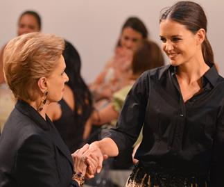 Katie Holmes lands beauty role and talks New York fashion week