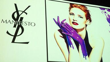 Sneak peek at Jessica Chastain as the face of Yves Saint Laurent fragrance