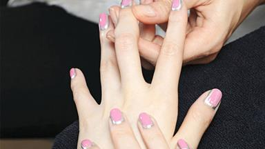 Chanel debuts couture french manicure