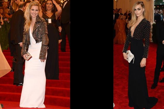 Sienna Miller and Cara Delevingne in Burberry.