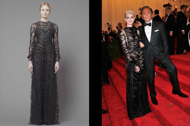 Anne Hathaway in Valentino – photographed with the man, himself.
