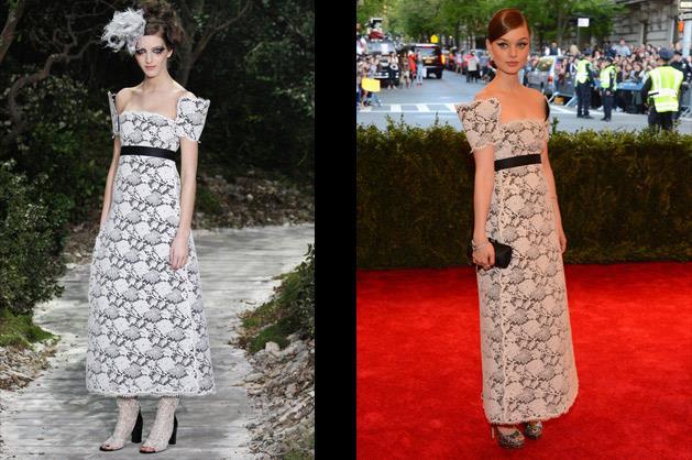 Bella Heathcote in Chanel Couture.