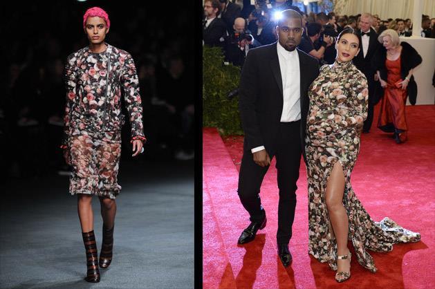 Kim Kardashian and Kanye West in Givenchy.