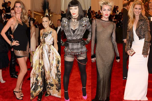 God save the <i>theme</i>: And because this isn't just any old annual costume party, the A-list wore covetable hot-off-the-catwalk looks that fit the rebellious dress code.  Click through to see <i>BAZAAR</i>'s roundup of the best runway-to-red-carpet outfits.
