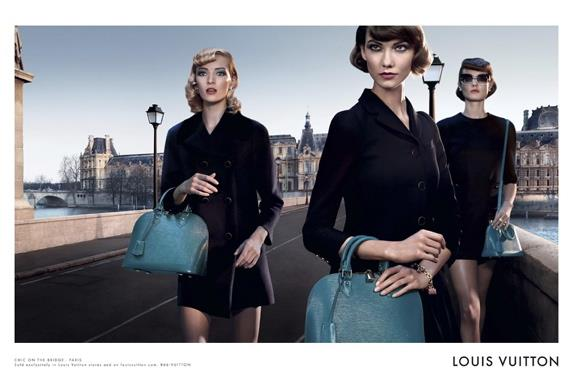 Louis Vuitton <i>Alma</i> bag campaign.