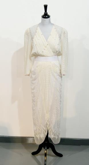 A Zandra Rhodes dress, worn by Princess Diana to a benefit concert in 1987, is up for auction.