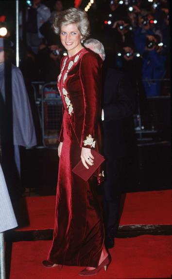 A Catherine Walker dress, worn by Princess Diana during a state visit to Korea in 1992, is up for auction.