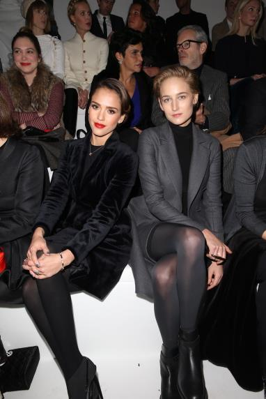Jessica Alba and Leelee Sobieski at Christian Dior.
