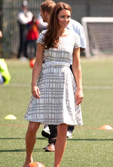Kate Middleton charmed onlookers in London wearing a Hobbs sundress to an Olympics event.