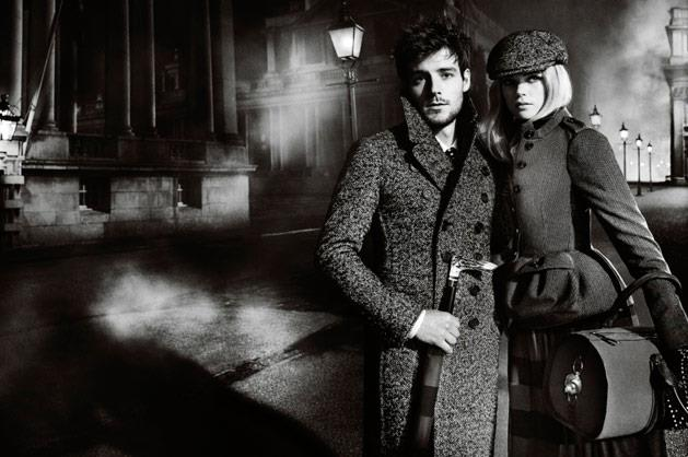 Burberry A/W 12-13, shot by Mario Testino and starring actress Gabrielle Wilde and singer Roo Panes.