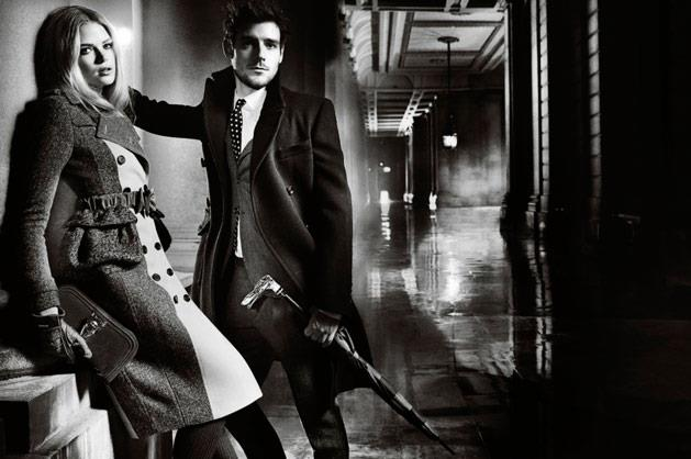 Burberry A/W 12-13, shot by Mario Testino and starring actress Gabrielle Wilde and singer Roo Panes