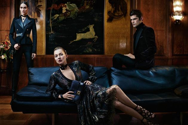 Salvatore Ferragamo A/W 12-13, shot by Mikael Jansson featuring Karmen Pedaru, Kate Moss and Sean O'Fry.