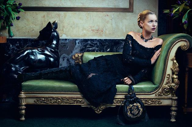 Salvatore Ferragamo A/W 12-13, shot by Mikael Jansson and starring Kate Moss.