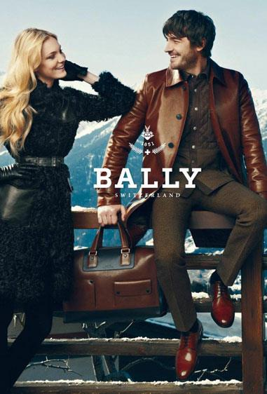 Bally A/W 12-13, shot by Norman Jean Roy and starring models Hilary Rhoda and Caroline Trentini.