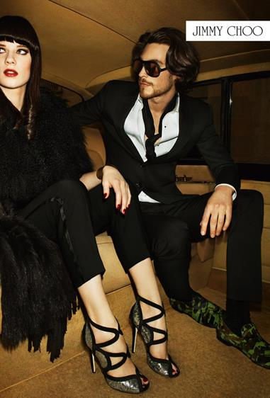 Jimmy Choo A/W 12-13, shot by Terry Richardson and styled by Camilla Nickerson, starring models Querelle Jansen and Jonas Kessler.