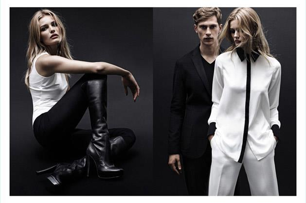 Calvin Klein White Label A/W 12-13, photographed by Daniel Jackson and starring Edita Vilkeviciute and Mathias Lauridsen.