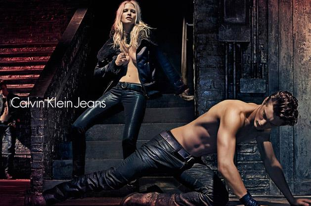 Calvin Klein Jeans A/W 12-13, lensed by Steven Klein and starring Lara Stone, Myles Crosby and Janis Ancens.