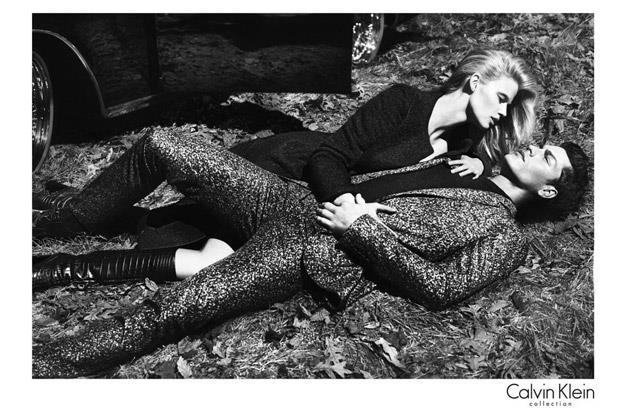 Calvin Klein Collection A/W 12-13  shot by Mert Alas and Marcus Piggott and starring Lara Stone and Tyson Ballou.