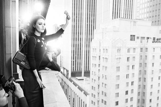 Miss Dior A/W 12-13, shot by Mario Sorrenti, styled by Carine Roitfeld and starring actor Mila Kunis.