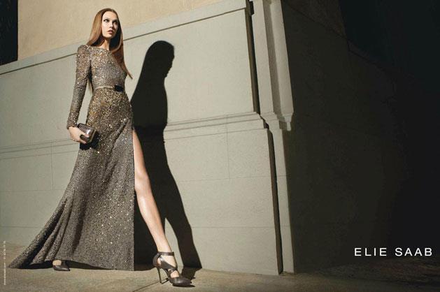 Elie Saab A/W 12-13, starring model Karlie Kloss.