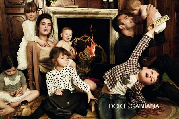 Dolce & Gabbana baby A/W 12-13, shot by Giampaolo Sgura and starring Bianca Balti and Enrique Palacios.