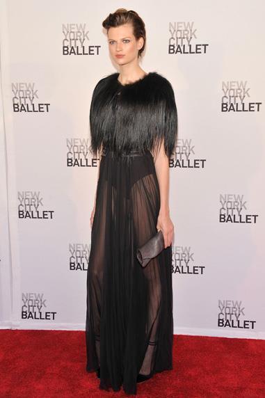 Model Bette Franke in J.Mendel at the New York Ballet Gala