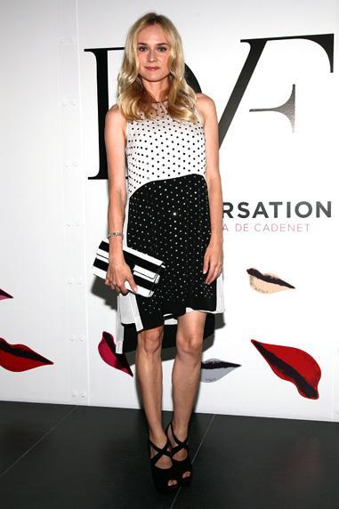"""Diane Kruger in Diane von Furstenberg at """"The Conversation"""" Series Launch"""