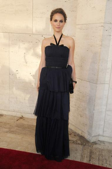 Natalie Portman in Dior dress for an evening at the New York City Ballet Spring Gala