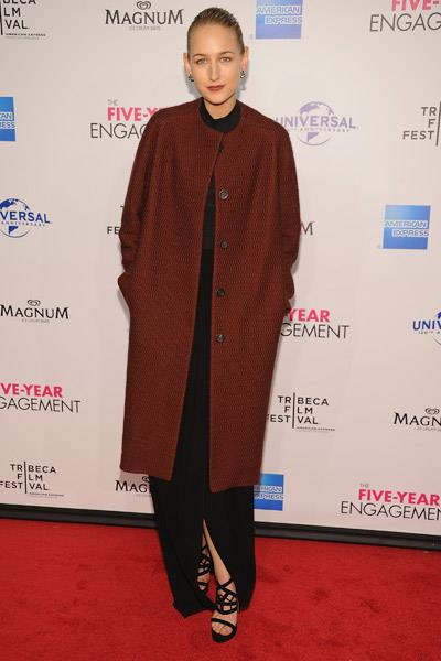 Leelee Sobieski wearing The Row at the Tribeca Film Festival in New York