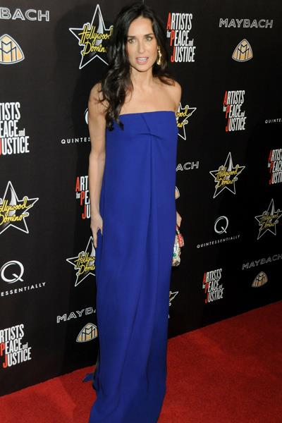 Demi Moore at the 3rd Annual Pre Oscars Hollywood Domino Gala in March 2010.