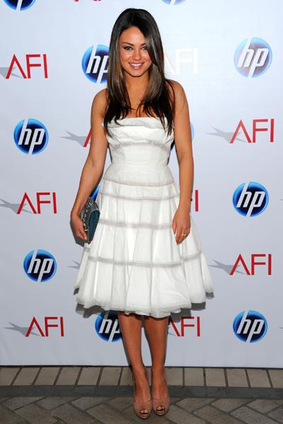 Mila Kunis was a vision in white at the 2011 AFI Awards in January 2011.