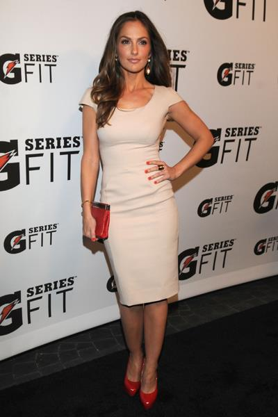 Minka Kelly wore a form-fitting VB dress to Gatorade's 'G Series Fit' launch party in April 2011.