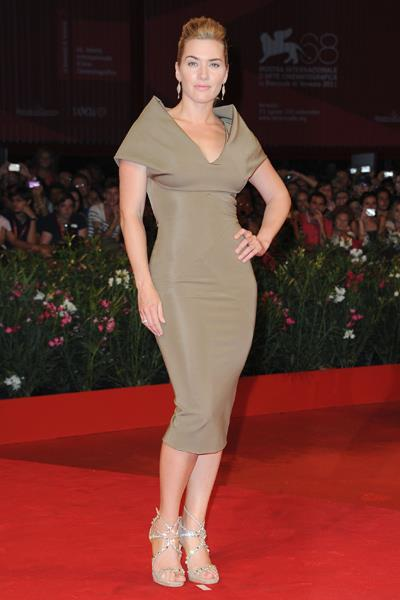 Kate Winslet wore Victoria Beckham to the Carnage Premiere at the 68th Venice Film Festival in September 2011.