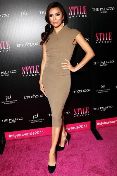 Close friend Eva Longoria at the Hollywood Style Awards in November 2011.