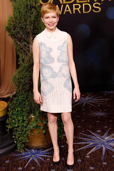 Michelle Williams worked the nominees circuit in Victoria Beckham. At the 2012 Oscars Nominees luncheon in February.