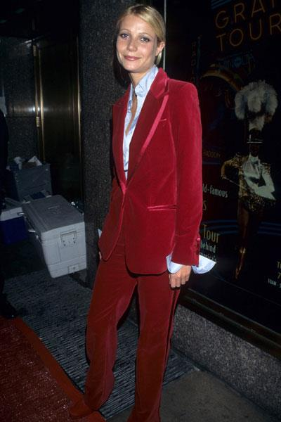After Paltrow appears in a red velvet pantsuit by Tom Ford for Gucci, the androgynous trend goes mainstream
