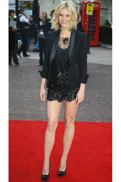 Paltrow is sultry in Balmain at the London premiere of Iron Man