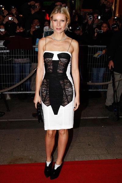 Paltrow pushes the envelope in a lacy sheer Antonio Berardi dress at the Two Lovers premiere in 2008