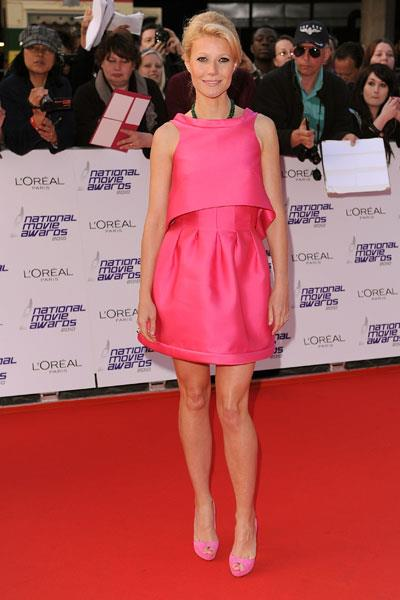 Paltrow is pretty in pink Prada at an LA awards show in 2012