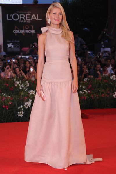 Having a high-style moment in Prada at the Contagion premiere in Cannes