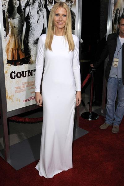 Paltrow opts for a column Pucci gown with sexy side cut-outs for the premiere of Country Strong in 2010
