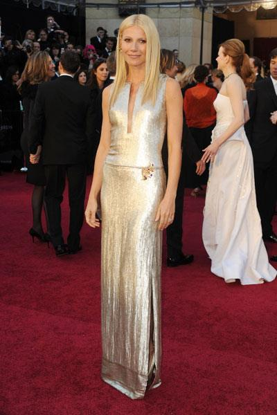 Gorgeous in shimmering Calvin Klein at the Oscars in 2011