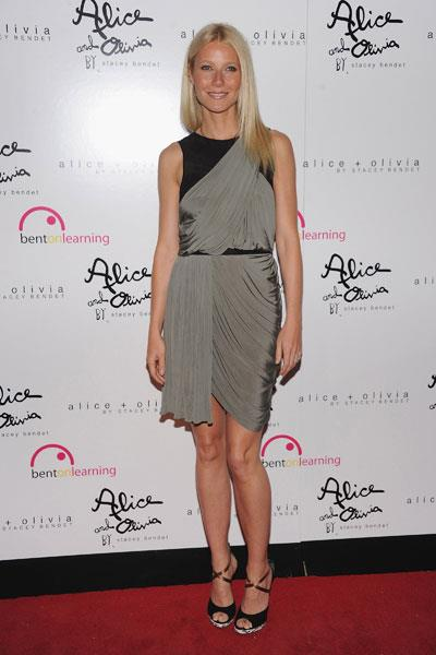 Wearing a draped Alexander Wang dress to the 3rd Annual Bent on Learning benefit in LA in 2012