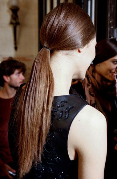 Slick side-part pony: Loewe A/W 2012-2013
