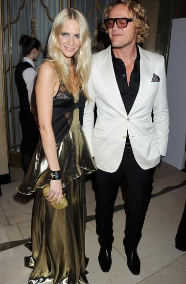 A Pucci-clad Poppy Delevingne with Peter Dundas of Pucci.