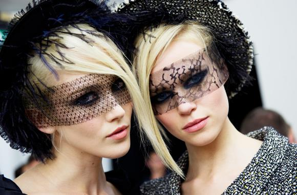 Be inspired by Chanel's haute couture A/W 11-12 collection, where models' eyes were clothed in exquisite lace.