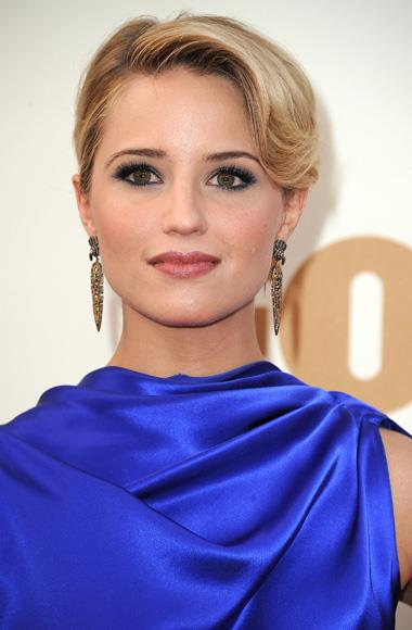 Dianna Agron at the Emmy Awards.