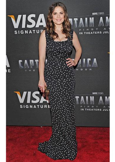 Hayley Atwel in Dolce & Gabbana A/W 11-12 dress