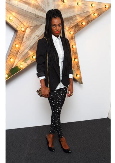 Solange Knowles in Dolce & Gabbana A/W 11-12 star print pants